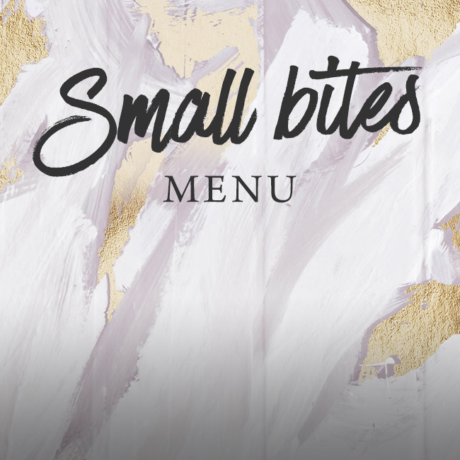 Small Bites menu at The Swan