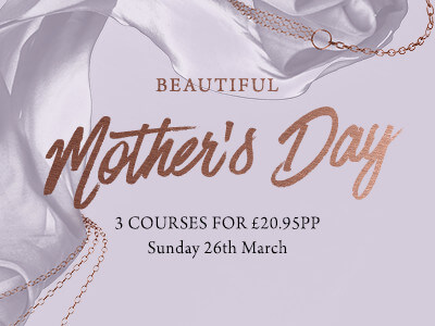 Enjoy Mother's Day here at The Swan